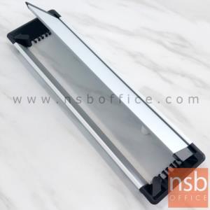 ฝาป๊อปอัพอลูมิเนียมฝังหน้าโต๊ะขอบดำ รุ่น 7204 ขนาด 30W ,40W cm.