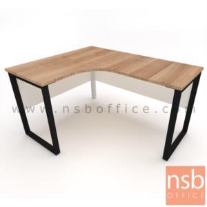 โต๊ะทำงานตัวแอล  ขนาด 150W1*120W2 cm. ขาเหล็กกล่อง