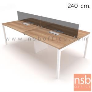 A27A038:ชุดโต๊ะทำงานกลุ่ม 4  รุ่น Smart-02  พร้อมกล่องไฟทุกที่นั่งและขากลางร้อยสายไฟ