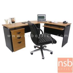 A13A011:โต๊ะผู้บริหารตัวแอล  รุ่น NOCI  ขนาด 180W1*140W2 cm. เมลามีน
