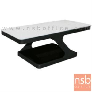 B13A158:โต๊ะกลางกระจกสีขาว  รุ่น BC-11H ขนาด 110.3W cm. โครงเหล็ก