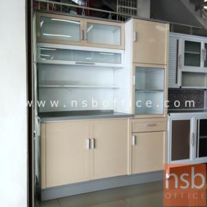 G07A090:ตู้ครัวสูงอลูมิเนียมหน้าเรียบ กว้าง 150 cm.