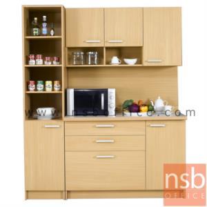 G10A008:ชุดตู้ครัวหน้าเรียบ ER-1121,ER-1141  พร้อมตู้แขวนลอย