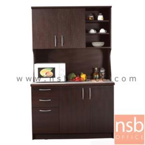 G10A012:ชุดตู้ครัวหน้าเรียบ 120 cm ER-1022  พร้อมตู้แขวนลอย