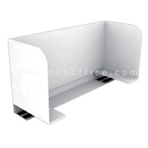 ชุดโต๊ะทำงานกลุ่ม 2 ที่นั่ง  รุ่น A-LEG ขนาด 150W cm. พร้อมมินิสกรีน