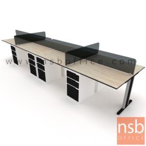 ชุดโต๊ะทำงานกลุ่ม 8 ที่นั่ง  รุ่น NSB-WS028G ขนาด 600W cm. พร้อมลิ้นชักเหล็กอย่างดี