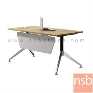 A13A162:โต๊ะผู้บริหารทรงสี่เหลี่ยม  รุ่น TJ-3838 ขนาด 180W cm. ขาเหล็กทรงหางปลา