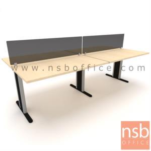 A04A031:ชุดโต๊ะทำงานกลุ่ม ขาตัวที ร้อยสายไฟได้