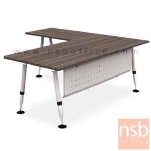 A29A002:โต๊ะทำงานตัวแอล รุ่น HB-EX4DL2019  ขนาด 200W1*190W2 cm.  ขาเหล็ก