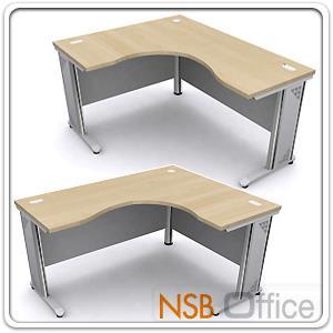 A18A018:โต๊ะทำงานตัวแอลหน้าโค้งเว้า รุ่น DF-N ขนาด 150W1 ,165W1 ,180W1*120W2 cm.  ขาเหล็ก