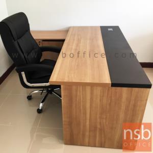 โต๊ะผู้บริหารตัวแอล  รุ่น MN-CLD ขนาด 180W cm. พร้อมตู้ข้าง
