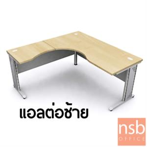 โต๊ะทำงานตัวแอลหน้าโค้งเว้า  รุ่น Zachary (แซ็กคารี) ขนาด 160W1 ,180W1*180W2 cm.  ขาเหล็ก