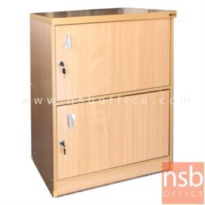 C13A008:ตู้ล๊อกเกอร์ไม้ 2 ประตูบานเปิด  รุ่น Leander (ลีนเดอร์) ขนาด 60W*83H cm.
