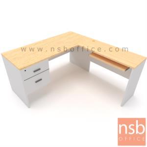 A13A213:โต๊ะทำงานตัวแอล 2 ลิ้นชัก รุ่น  Genesis (เจนนิซิส) 150W*140D , 150W*160D cm.
