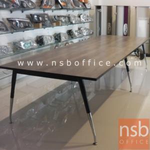 A05A089:โต๊ะประชุมทรงสี่เหลี่ยม   ขนาด 300W ,340W ,380W ,460W cm.  ขาเหล็กปลายเรียว