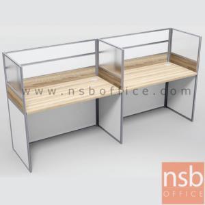 ชุดโต๊ะทำงานกลุ่มหน้าตรง 2 ที่นั่ง รุ่น SR-M122  ขนาดรวม 246W ,306W cm. มีและไม่มีตู้แขวนเอกสาร
