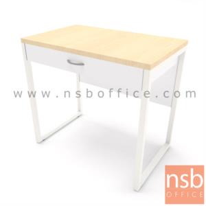 A10A093:โต๊ะทำงาน 1 ลิ้นชัก รุ่น Marie (มารียา) ขนาด 80W,100W cm. ขาเหล็ก