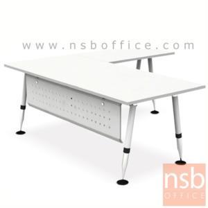 โต๊ะทำงานตัวแอล รุ่น HB-EX4DL2019  ขนาด 200W1*190W2 cm.  ขาเหล็ก