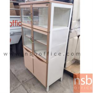 ตู้ครัวสูงอลูมิเนียม สูง 146 ซม.  ขนาด 80W*47D*146H cm.