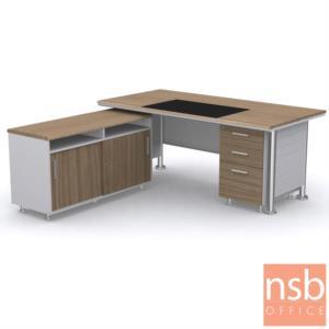 A30A008:โต๊ะผู้บริหารทรงสี่เหลี่ยม รุ่น Meridian (เมอริเดียน) ขนาด 180W ,200W cm. สินค้ารอผลิต 30 วัน