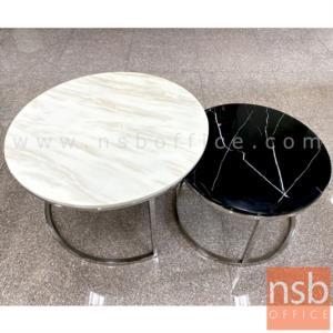 B13A271:โต๊ะกลาง รุ่น Ashley (อัจฉรีย์) ท็อปลายหินอ่อน