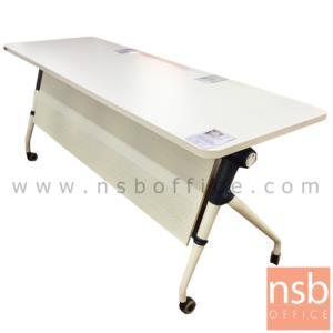 A07A056:โต๊ะประชุมพับเก็บได้ล้อเลื่อน รุ่น TY-860 ขนาด 80W ,160W ,180W*(60D, 80D) cm.  พร้อมบังโป๊และตะแกรงวางของ