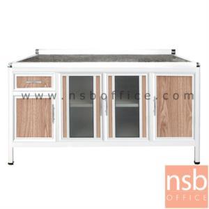 G07A133:ตู้ครัวตอนล่างอลูมิเนียมหน้าเรียบกว้าง 160 ซม