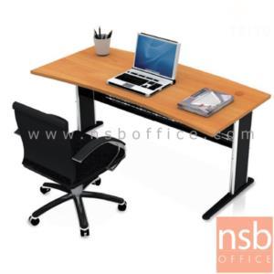 A06A039:โต๊ะผู้บริหารทรงหน้าโค้ง  รุ่น TY-8100 ขนาด 180W cm. ขาตัวแอลโครเมี่ยม
