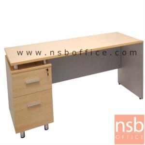 A12A064:โต๊ะทำงาน 2 ลิ้นชัก รุ่น MN-YW180 ขนาด 160W cm. เมลามีน