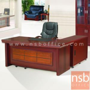 A06A066:โต๊ะผู้บริหารตัวแอล  รุ่น FTS-FCF053 ขนาด 160W ,180W ,200W cm. พร้อมตู้ลิ้นชักและตู้ข้าง