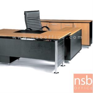 A30A008:โต๊ะผู้บริหารทรงสี่เหลี่ยม รุ่น MS-PF-EXECUTIVE  ขนาด 180W ,200W cm. สินค้ารอผลิต 30 วัน