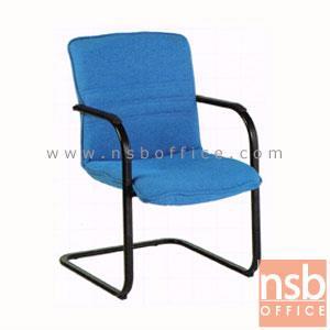 B04A121:เก้าอี้รับแขกขาตัวซี รุ่น CH-13685-B  ขาเหล็กพ่นดำ