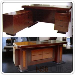 โต๊ะผู้บริหารตัวแอล 3 ลิ้นชัก  รุ่น Maree (มารี) ขนาด 160W cm. พร้อมตู้ข้าง