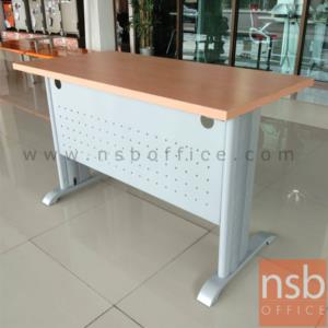A10A082:โต๊ะโล่ง รุ่น FCN-2050 ขนาด 120W ,150W cm.  พร้อมบังโป๊เหล็ก ขาเหล็กสีเทา