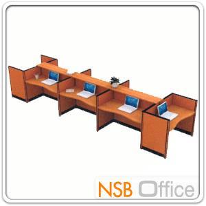 A04A054:ชุดโต๊ะทำงานกลุ่ม 8 ที่นั่ง    พร้อมที่วางของส่วนกลาง