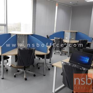 ชุดโต๊ะทำงานกลุ่ม 6 ที่นั่ง   ขนาด 265W1*265W2 cm.