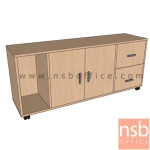 C01A046:ตู้เอกสารล้อเลื่อน สูง 65 cm. วางข้างโต๊ะ  รุ่น VCP-664  พร้อมช่องวาง CPU เมลามีน