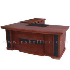 A06A151:โต๊ะผู้บริหารตัวแอล รุ่น Daejeon (แดจอน) ขนาด 160,180,200 cm.