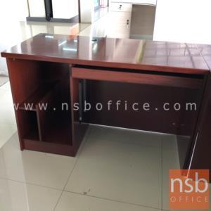 โต๊ะผู้บริหารตัวแอล  รุ่น Merry (เมอรี่) ขนาด 180W1*180W2 cm. พร้อมโต๊ะเข้ามุมและโต๊ะคอมพิวเตอร์