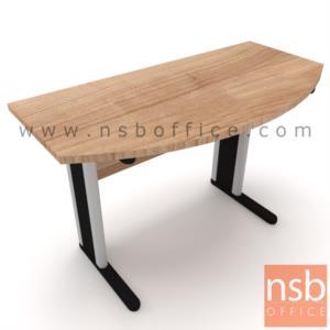 A18A098:โต๊ะเข้ามุมครึ่่งวงกลม รุ่น Half circle ขนาด 120Di, 150Di cm. โครงขาเหล็กตัวแอล
