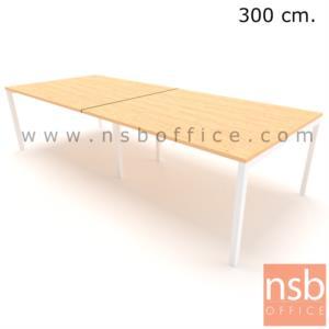 A05A217:โต๊ะประชุมทรงสี่เหลี่ยม รุ่น moss (มอส) ขนาด 300W, 360W, 400W, 480W cm. ขาเหล็กเหลี่ยมทำสี