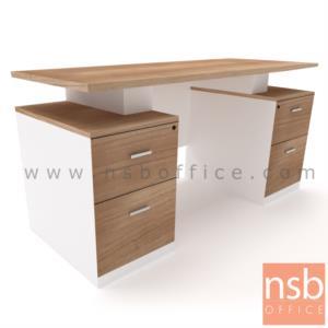 A12A062:โต๊ะทำงาน 4 ลิ้นชัก รุ่น CV- VARIOUS –NEW ขนาด 150W ,180W cm.  เมลามีน