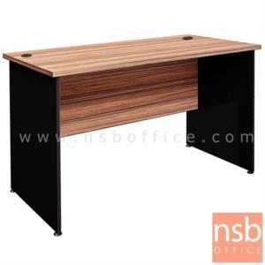 A33A062:โต๊ะทำงานโล่ง  รุ่น SP-WN021  ขนาด 120W cm. เมลามีน สีวอลนัทตัดดำ