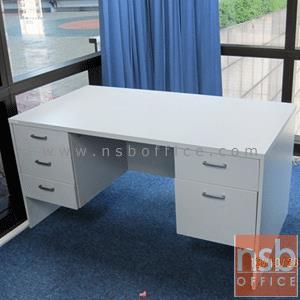 A12A004:โต๊ะทำงาน 5 ลิ้นชัก รุ่น EP-233 ขนาด 150W ,160W ,165W ,180W cm.  พร้อมกุญแจล็อค เมลามีน