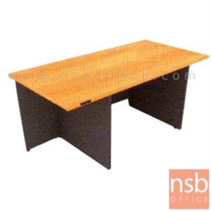 A05A054:โต๊ะผู้บริหารทรงสี่เหลี่ยม  รุ่น EP-6056 ขนาด 180W ,200W cm. เมลามีนล้วนทั้งตัว