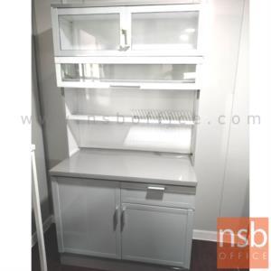ตู้ครัวสูงอลูมิเนียมหน้าเรียบ กว้าง 100 cm.