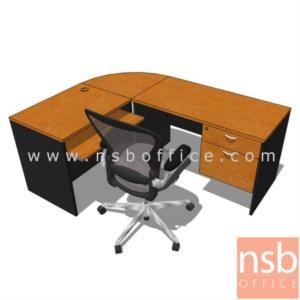 A12A019:โต๊ะทำงานตัวแอล  รุ่น Richard (ริชาร์ด) ขนาด 180W1*140W2 cm. เมลามีน