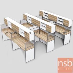 A04A196:ชุดโต๊ะทำงานกลุ่มหน้าตรง 6 ที่นั่ง รุ่น SR-S116 ขนาดรวม 246W ,306W cm.
