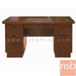 โต๊ะผู้บริหารทรงตรง 6 ลิ้นชัก รุ่น FINISH  ขนาด 140W cm.
