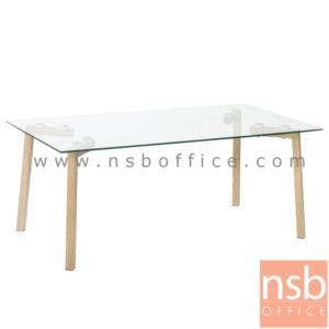 B13A231:โต๊ะกลางกระจก  รุ่น SR-CGT208 ขนาด 110W cm. ขาเหล็กแลปปิ้ง